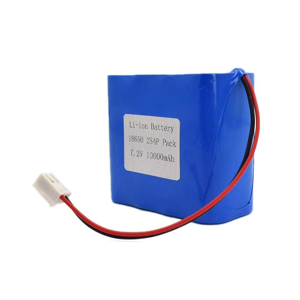 2S4P 7.2V 10000mAh 10Ah rechargeable lithium ion battery pack
